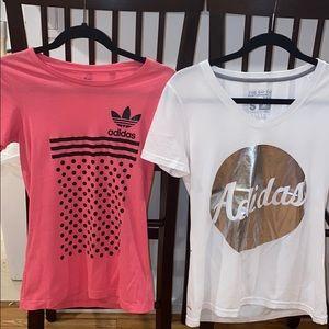 2 adidas shirts (set)
